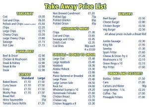 Golden Fry Prices