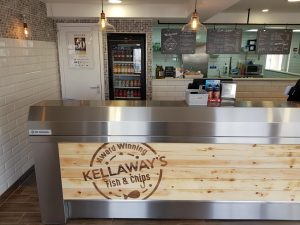 Inside Kellaways Fish and Chip Shop near Truro