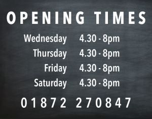 Opening Hours 2021